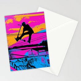 Lets Fly!  - Stunt Scooter Stationery Cards