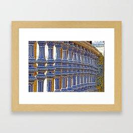 Plaça de España - Seville, Spain Framed Art Print