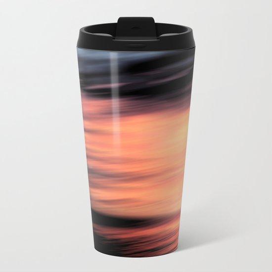 Sunset . Abstraction . Metal Travel Mug