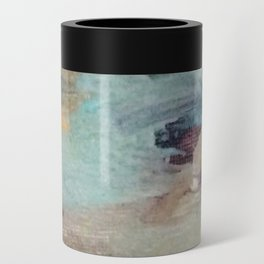 Gentle Beauty [5] - an elegant acrylic piece in deep purple, red, gold, and white Can Cooler