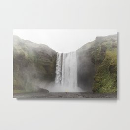 Skógafoss waterfall - lanscape photography Metal Print