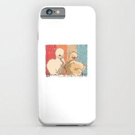 Silk Chicken. Retro Silkies. Vintage Silkie Chicken iPhone Case