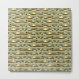 Sailing pattern 1d Metal Print