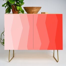 Cool Geometric Living Coral Gradient abstract Credenza