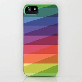 Fig. 040 Rainbow Stripes iPhone Case