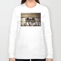 welcome Long Sleeve T-shirts featuring Welcome by digital2real
