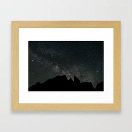Sierra Stars at Night Framed Art Print