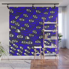 Freddie Eyeballs Sapphire Blue Wall Mural