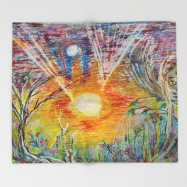 Sun Child Throw Blanket