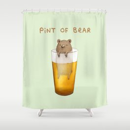 Pint of Bear Shower Curtain