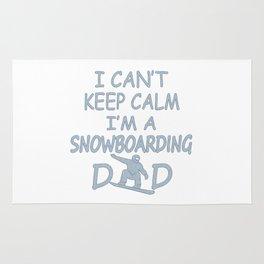 I'M A SNOWBOARDING DAD Rug