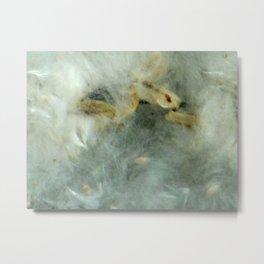 White Fallen Cotton Metal Print