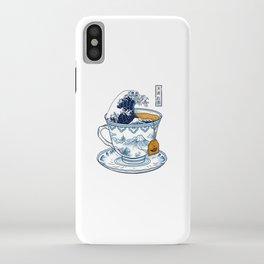 The Great Kanagawa Tea iPhone Case
