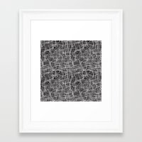 grid Framed Art Prints featuring Grid by ChantalNathalie