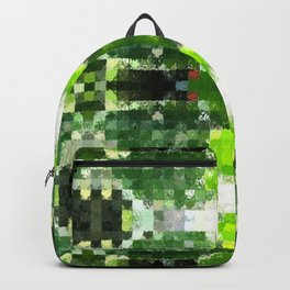 Bright Green tiles Backpack