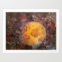 lunar Art Prints featuring Lunar  by Evan Hawley