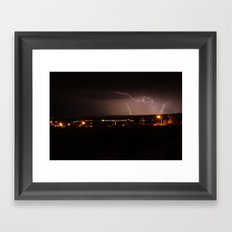 Electrical Storm over Santa Fe, NM Framed Art Print