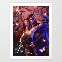 Jude & Cardan Art Print