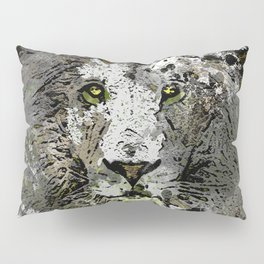 LION KING OF BEASTS ABSTRACT PORTRAIT Pillow Sham