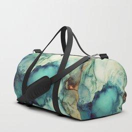 Teal Abstract Duffle Bag