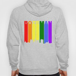 Bozeman Montana Gay Pride Rainbow Skyline Hoody
