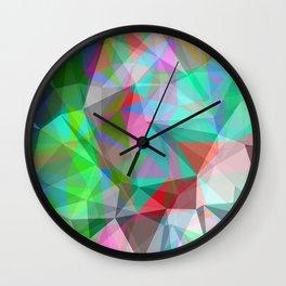 green crystal depth Wall Clock