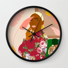 There's Peaceful. There's Wild. I'm Both At The Same Time #illustration Wall Clock