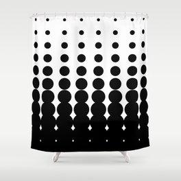Retro Halftone Pattern Shower Curtain
