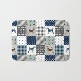 Airedale Terrier pure breed cheater quilt pattern dog lovers by pet friendly Bath Mat