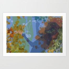Voyager (Blue) Art Print