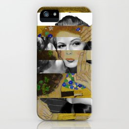 Klimt's The Kiss & Rita Hayworth with Glenn Ford iPhone Case