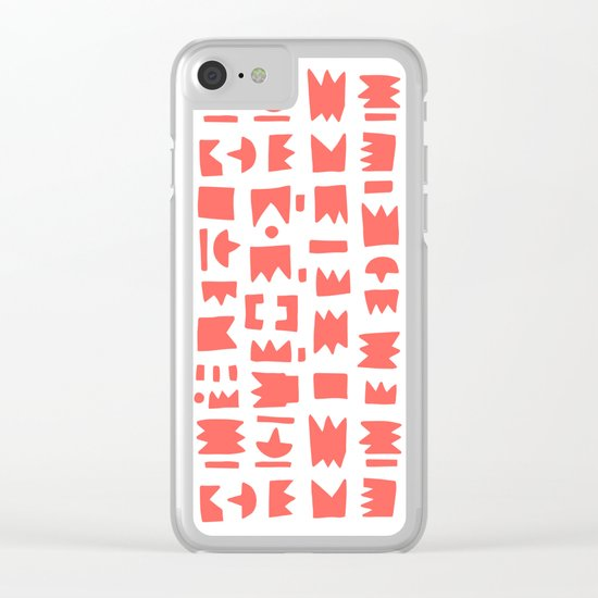 Pattern v6 Clear iPhone Case