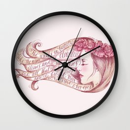 She Walks in Beauty Wall Clock
