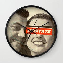 Hesitate Wall Clock