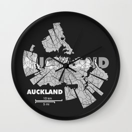 Auckland Map Wall Clock