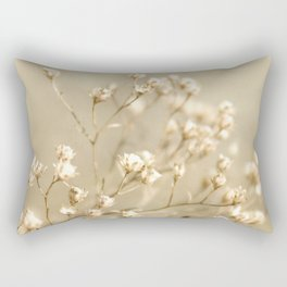 Softer I Botanical Flora Nature Neutral Tan Cream  Rectangular Pillow