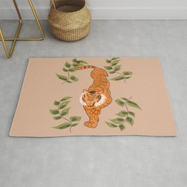 Tiger in the wild  Rug