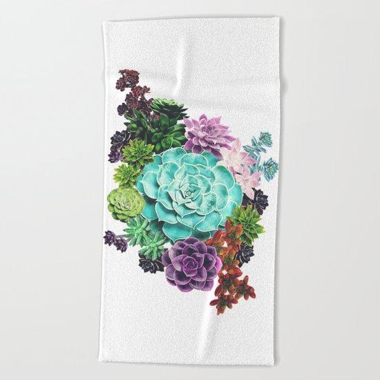 Succulent Beach Towel