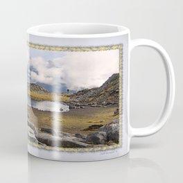 BLUE AND GOLD MOUNTAIN SOLITUDE Coffee Mug