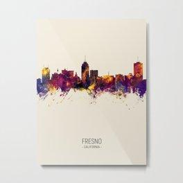 Fresno California Skyline Metal Print