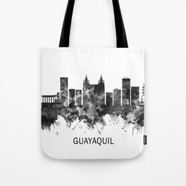 Guayaquil Ecuador Skyline BW Tote Bag