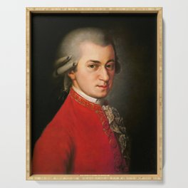 Wolfgang Amadeus Mozart (1756 -1791) by Barbara Krafft (1819) Serving Tray