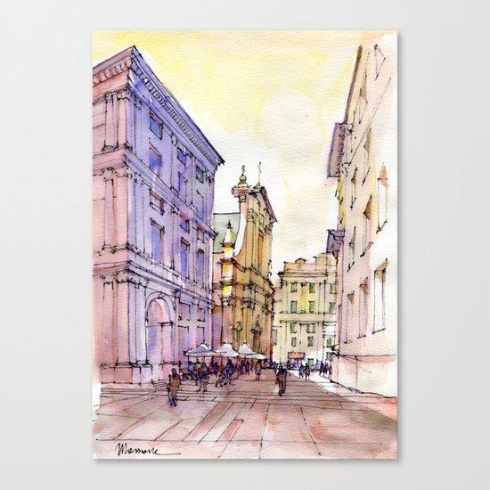 Scorcio di Piazza De Ferrari , Genoa Canvas Print