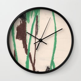Abstract mint Wall Clock