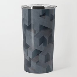 Concrete Abstract Travel Mug