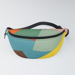 Colorful Minimalist Abstract Art Squares Fanny Pack