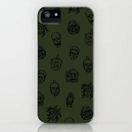 Little Monsters (green) iPhone Case