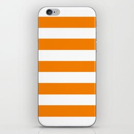 University of Tennessee Orange - solid color - white stripes pattern iPhone Skin