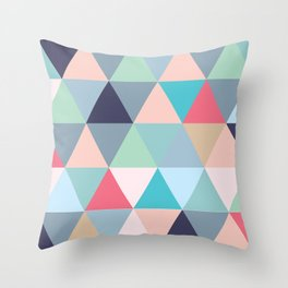 Geo Pastels Throw Pillow