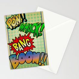Comic Sounds Stationery Cards